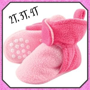 🌸New🌸Toddler Fleece Scooties (non-skid soles)🌸